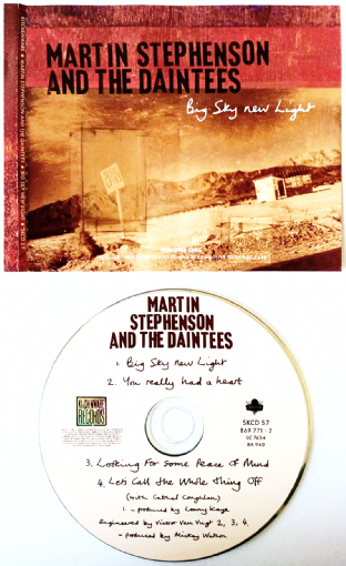 Martin Stephenson And The Daintees ‎- Big Sky New Light (CD Single Pt 1) (VG+/G+)